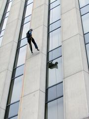 Making a Splash: Big Brothers Big Sisters generated buzz with a rappelling event last September.