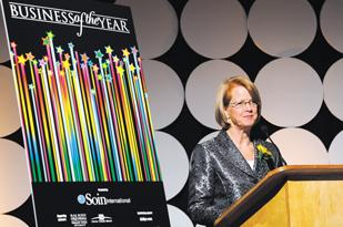 Business Awards: The DBJ will recognize the 18 finalists and announce the winners of the 2012 Business of the Year awards during a Nov. 15 gala. (Above) Publisher Carol Clark at last year's event.