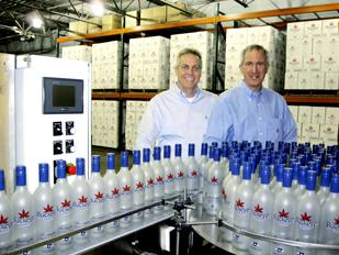 Strong Sales: Jim Finke (Left) and Tom Rambasek are co-owners of Dayton-based Crystal Spirits LLC, which launched Buckeye Vodka on April 1.