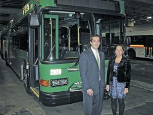 Expanding Reach: Russ Gottesman and Katie Hill founded Dayton-based Commuter Advertising. The firm will now provide audio-visual advertising on Metro buses in Cincinnati.