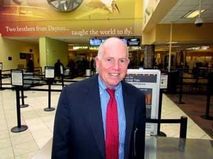 Friendly Flying: Terrence Slaybaugh, director of aviation for the city of Dayton, has taken steps to improve customer service and improve morale at the airport, which has been seeing more passengers.