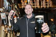 Cheers: Steve Tieber is co-owner of the Dublin Pub, which saw sales boom during the NCAA festivities in Dayton.