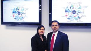 Tech Growth: Anju and Praveen Chawla are co-owners of Centerville-based Edaptive Computing Inc., which has doubled revenue and its employee count in less than a year. The software development company remains in hiring mode, currently seeking out 10 new positions.