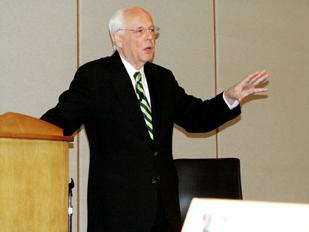 Watergate Lessons: John Dean, former White House Counsel under President Richard Nixon, discusses the law at a recent event at Sinclair Community College.