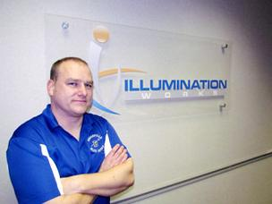 Growth Mode: Jon Mitchell is CEO of Centerville-based Illumination Works LLC,  which grew revenue 60 percent last year and recently relocated to a larger office.