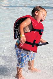 Amusements: A young guest enjoys the water park.
