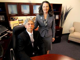On The Rise: Connie Sawdey, president of Beavercreek-based Sawdey Solutions, and her husband Jeff Sawdey, vice president. The defense contractor landed a $3.7 million deal from the U.S. Department of Defense to provide program management support.