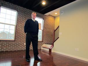 Charles Simms, owner of Charles Simms Development, is building a seven-unit project featuring 2-bedroom townhouses just south of downtown Dayton.