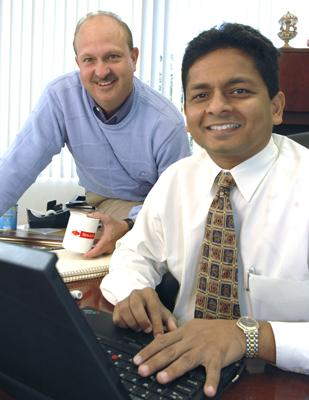 Growth Spurt: Sogeti's Executive Vice President Michael Pleiman, left, and Chief Executive Officer Navin Goel.