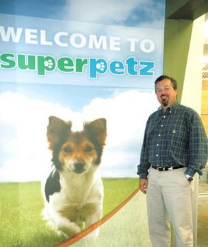 Smarter Shopping: Tim Kleptz is co-owner of Dayton-based Superpetz, which has relocated its larger stores into smaller, more manageable locations.
