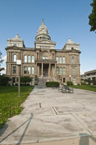 Historic Center: The Miami County Courthouse, built in 1888, is just a block from the square in downtown Troy.