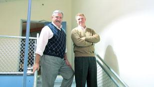 Dan Sack (left), owner of Middletown-based OmniCom Solutions Group, and Mike Nichols, owner of Red Skyy Group.