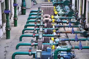 Pumping Up: This is an example of a water treatment plant. The Moyno division of Robbins & Myers mainly developes cavity pumps for wastewater treatment.