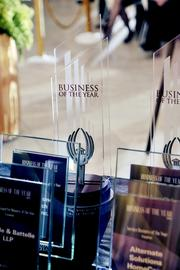 The awards given out during the 11th-annual Business of the Year gala at the Schuster Center on Thursday.