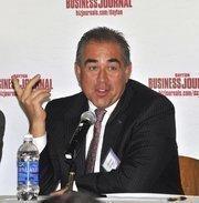Panelist Michael Bridges, president of Fairborn-based Peerless Technologies Corp.