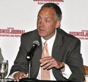 Jeff Hoagland, President and CEO of the Dayton Development Coalition, at the DBJ's Defense Forum on Tuesday.
