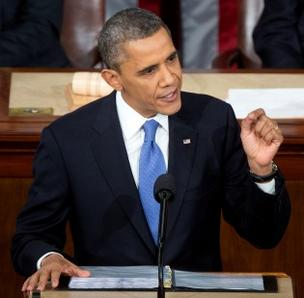 President Barack Obama delivers his State of the Union address to Congress.