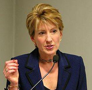 Former Hewlett-Packard CEO Carly Fiorina has endorsed Mitt Romney to be the Republican candidate for president against Barack Obama. She was the economic issues and business adviser for U.S. Sen. John McCain in the last campaign.