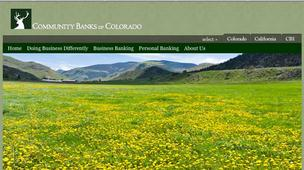 The Community Banks of Colorado website