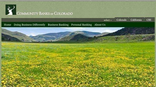 The Community Banks of Colorado website