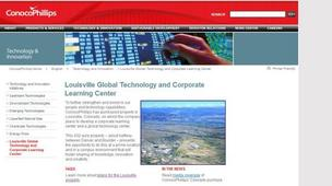 A 2011 screen shot of a ConocoPhillips web page on the once-planned energy campus in Louisville.