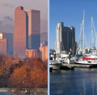 Denver and Baltimore: Comparing and contrasting the two cities as their teams prepare to face off in the NFL season kickoff game Sept. 5 at Sports Authority Field at Mile High.