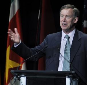 Colorado Gov. John Hickenlooper in a 2011 file photo.