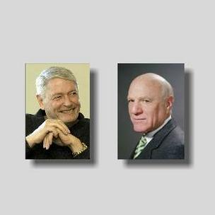 John Malone (left) and Barry Diller (file).