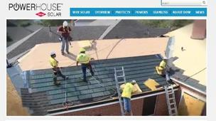 A screen shot from the Dow website on the Powerhouse Solar Shingle.