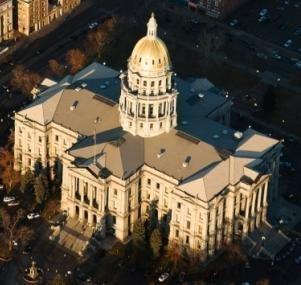 The Colorado State Capitol in Denver (file).