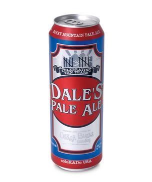 Oskar Blues' new royal pint-sized Dale's Pale Ale can.