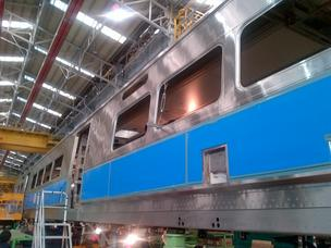 The very first Eagle project train in the shop in South Korea.