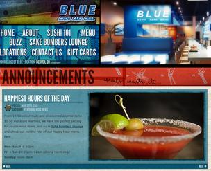 The Blue Sushi Sake Grill website.
