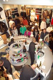 Cocktails were served — including a specail H&M martini — as VIPs gathered Nov. 9 for a pre-opening celebration at H&M.