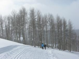 Snowshoers enjoy a fresh blanket of snow at Beaver Creek Resort on Dec. 31.