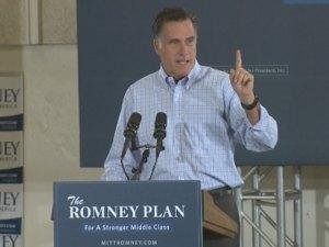GOP presidential candidate Mitt Romney campaigns in Golden Thursday, Aug. 2, 2012. (Photo: CBS4 Denver)