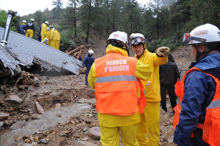 Search and rescue operations are under way in the small Boulder County town of Jamestown.