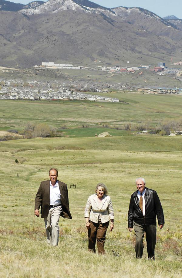 Jack Hoagland, Diane Smethills and Harold Smethills, principals of Sterling Ranch LLC, in a 2010 photo.