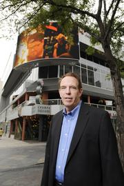 Mike Colohan, Creekside's CEO, says Champa Square was chosen for the Denver Theatre District's $1.56 million, 18-by-32-foot LED Jumbotron because it's located on a pivotal downtown corner.