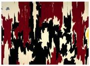 "The damaged painting, ""1957-J No. 2,"" by Clyfford Still."