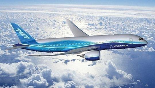 The Boeing 787 Dreamliner.