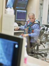 Barry Gibson works on an atrial fibrillation ablation case in the cath lab at the Medical Center of Aurora.