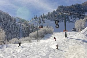 Skiers on Aspen Mountain (file).