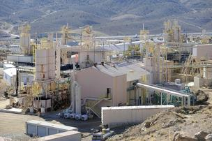 Molycorp Inc.'s thin earths defence and processing artefact at Mountain Pass, Calif. (2010 photo).