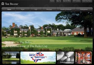 A screen grab of The Belfry's website.