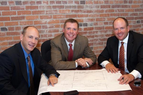 From left: Ron Webert, Brady Welsh and Jeffrey Nations, industrial brokers in the new Bitzer Food Services Group.