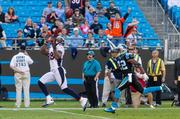 Denver Broncos wide receiver Demaryius Thomas catches a  long bomb during a Nov. 11, 2012, game vs. the Carolina Panthers in  Charlotte.