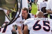Denver Broncos quarterback Peyton Manning admonishes his teammates  during a Nov. 11, 2012, game against the Carolina Panthers in Charlotte.