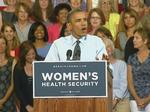 Obama hammers Romney on women's issues at Denver rally