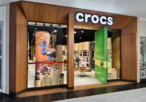 The new Crocs store in Austin, Texas.